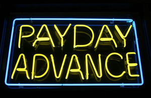 Payday advance sign