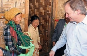 Foreign Office Minister Hugo Swire in Kachin state in 2014