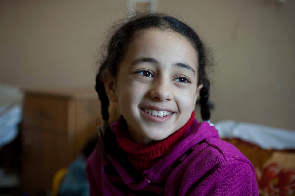Weam just wants to walk again. Thanks to the medical care of the British doctors, she might just be able to. Picture: Abbie Trayler-Smith/Panos for DFID