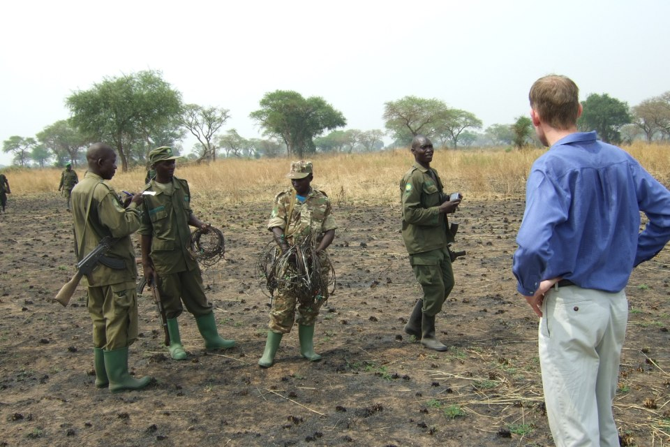 Anti poacher ranger patrol