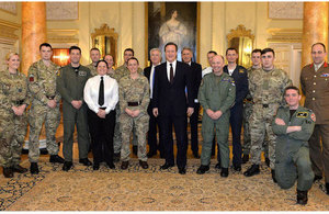 PM meets Operational Awards winners at Downing Street reception