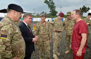 Minister for the Armed Forces meeting military personnel in Sierra Leone