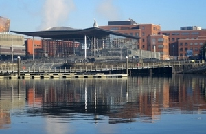 The Senedd building