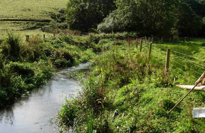 A river in Cornwall where a Catchment Sensitive Farming grant has helped fence of farmland to stop livestock entering the river and causing pollution problems