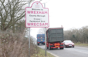 Welcome to Wrexham sign