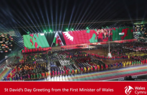 St. Davids Day Greetings from the First Minister of Wales