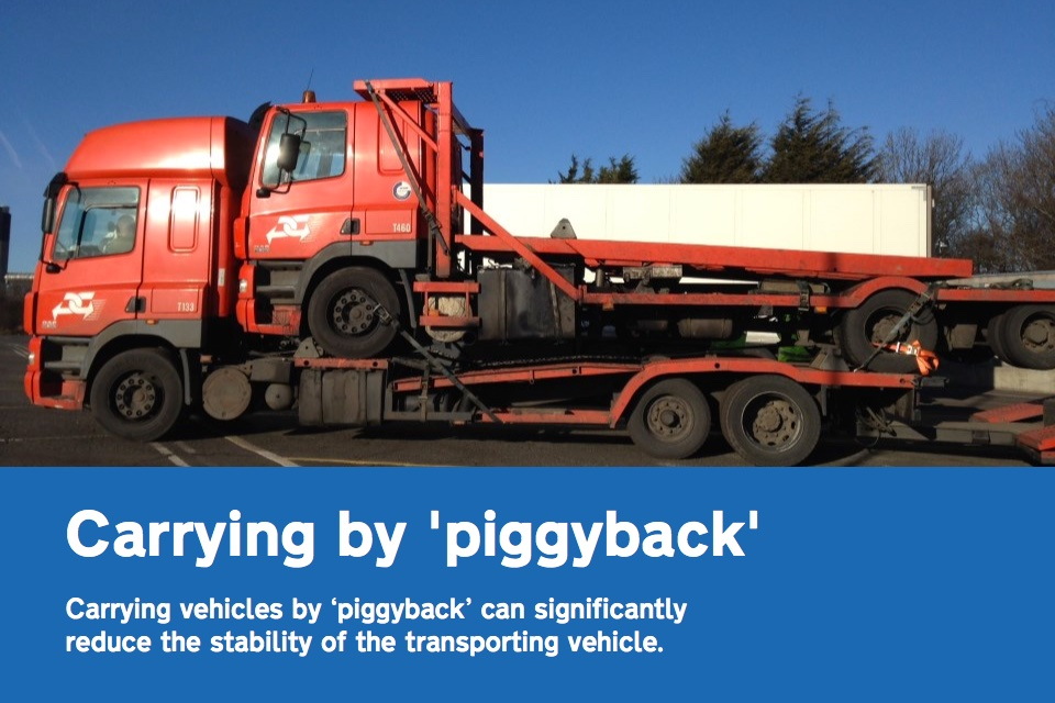 Carrying a heavy goods vehicle by 'piggyback'
