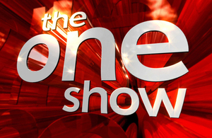 Image of the text of the BBC's flagship programme, The One Show