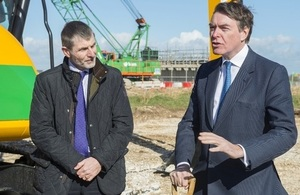 Defence Minister Philip Dunne MP with Dstl CE Jonathan Lyle