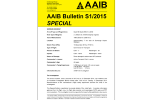 AAIB Special Bulletin S1/2015