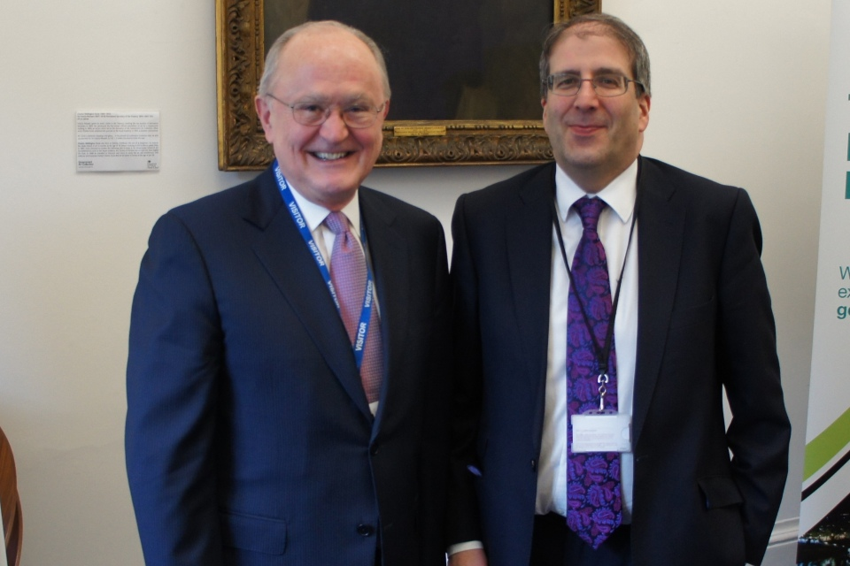 From left: Professor Ruggie with EGAC Chair Andrew Wiseman