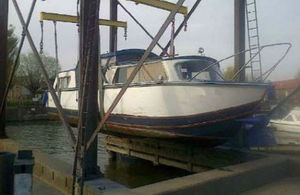 Vessel removed by the Environment Agency