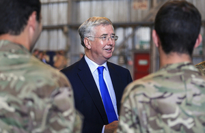 Defence Secretary Michael Fallon has announced that the MOD has helped the Government surpass its land release targets