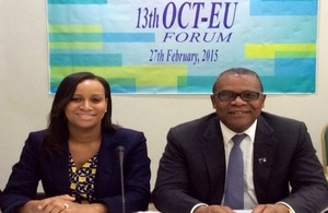 Deputy Governor, Anya Williams, and Minister of Finance, Washington Misick