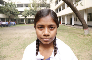 Swapna Akter: 16-year-old schoolgirl and future engineer. Picture: Ricci Coughlan/DFID