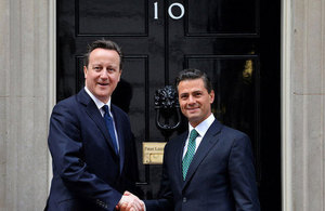 Prime Minister David Cameron and Mexican President, Enrique Peña Nieto at 10 Downing Street