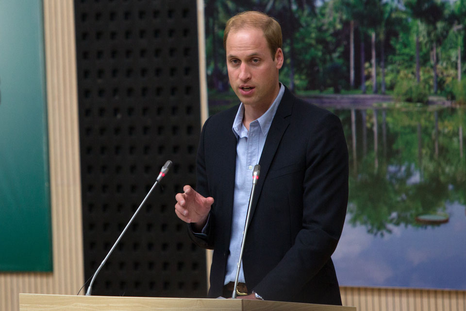 On 4 March, HRH The Duke of Cambridge made a speech about the illegal wildlife trade, at the Botanical Gardens in Xishuangbanna, China.