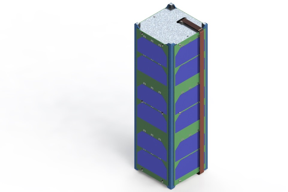 CAD drawing of Alsat Nano.