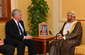 Defence Secretary Michael Fallon in Oman