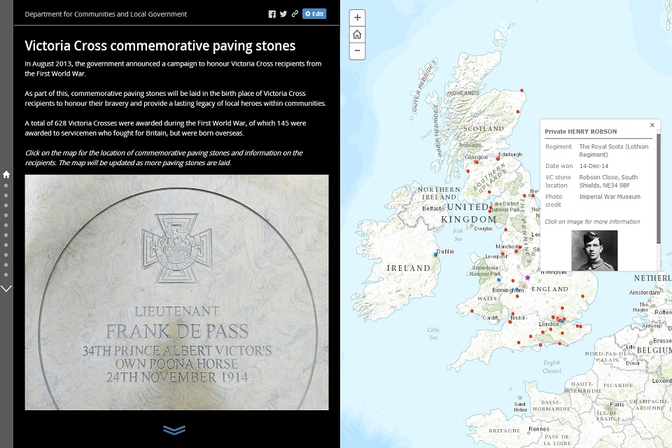 Victoria Cross map