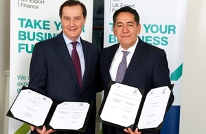UKEF Business Group Director Steve Dodgson and Bancomext Deputy General Director Finance Miguel Siliceo Valdespino