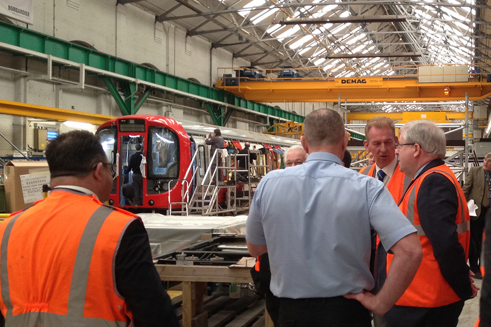 Secretary of State tours Bombardier.