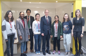 Nick Gibb and Kings college students
