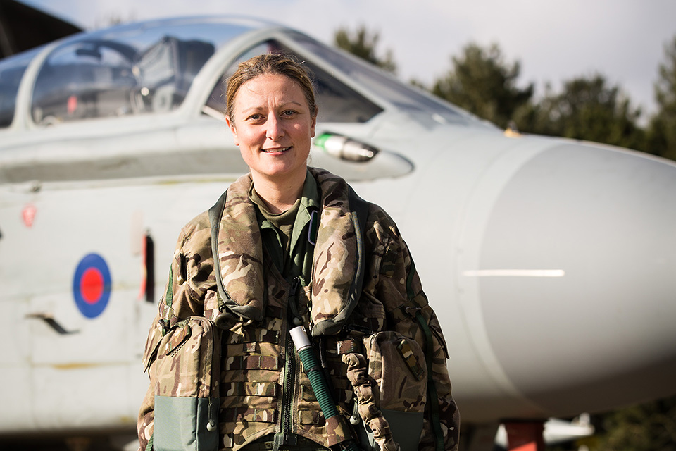 Wing commander Nikki Thomas stands in front of one of 12 (B) Squadrons Tornado GR-4 aircraft [Picture: Senior Aircraftman Hannah Beevers RAF, Crown copyright]