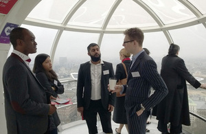 National Apprenticeship Week 2015: Apprenticeship Ambassador Anthony Impey talks to employers on the London Eye.