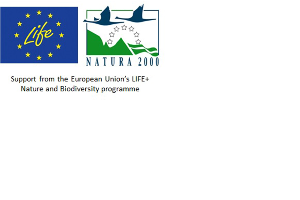 Support from the European Union's LIFE+ Nature and Biodiversity programme