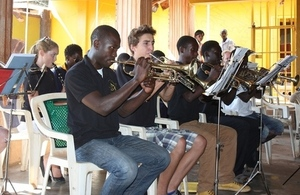 Members of MLISADA Brass Band perform at a recent recital