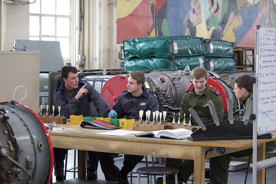 Apprentices at RAF Cosford
