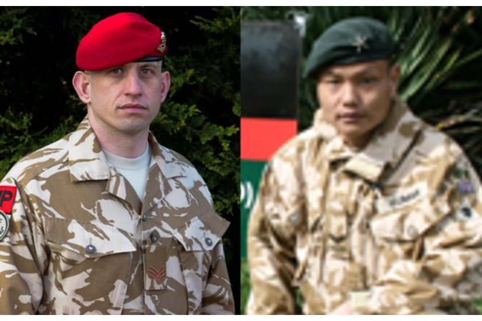 Sergeant Ben Ross and Corporal Kumar Pun