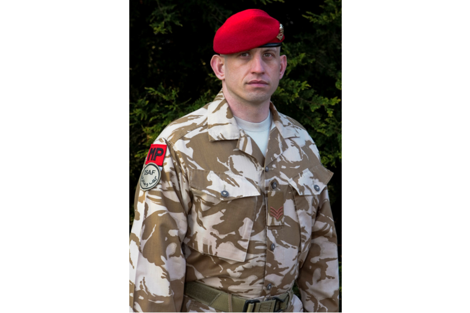 Sergeant Ben Ross of 173 Provost Company, 3rd Regiment, Royal Military Police