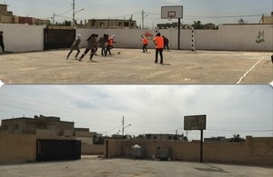"Before and after photos of ""Buckingham"" playgrounds at Al-Faisaliyeh Secondary School for Girls!"