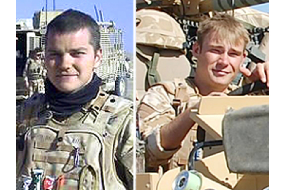 Corporal Dean Thomas John and Corporal Graeme Stiff (All rights reserved.)