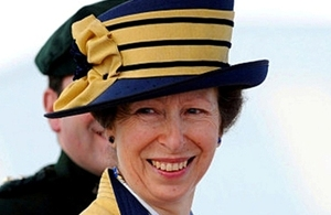 The Princess Royal arrives at a graduation parade at the Army Foundation College in Harrogate, North Yorkshire, 12 August 2010.