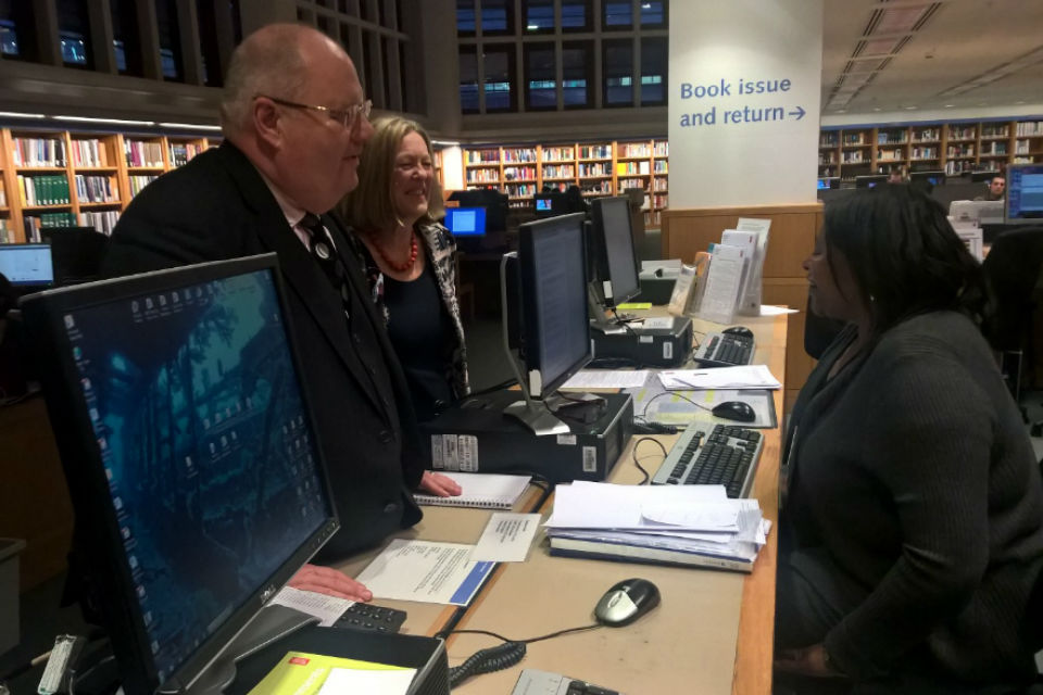 Eric Pickles at the British Library