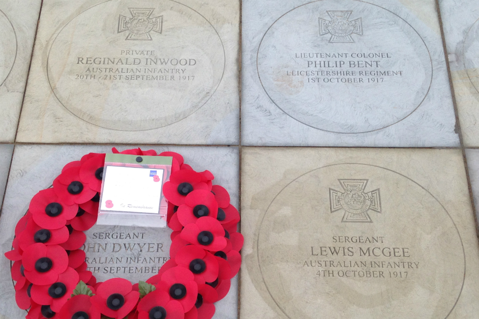 Four commemorative paving stones