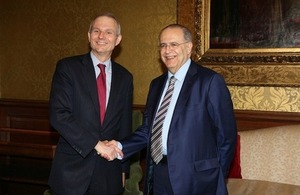Minister for Europe David Lidington and Foreign Minister of the Republic of Cyprus Ioannis Kasoulides
