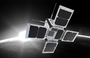 Artist's impression of Outernet cubesat.