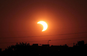 Partial Eclipse of the Sun. Photograph courtesy of NASA.