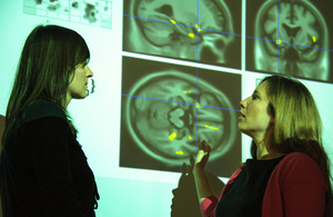 Image of discussion at research centre