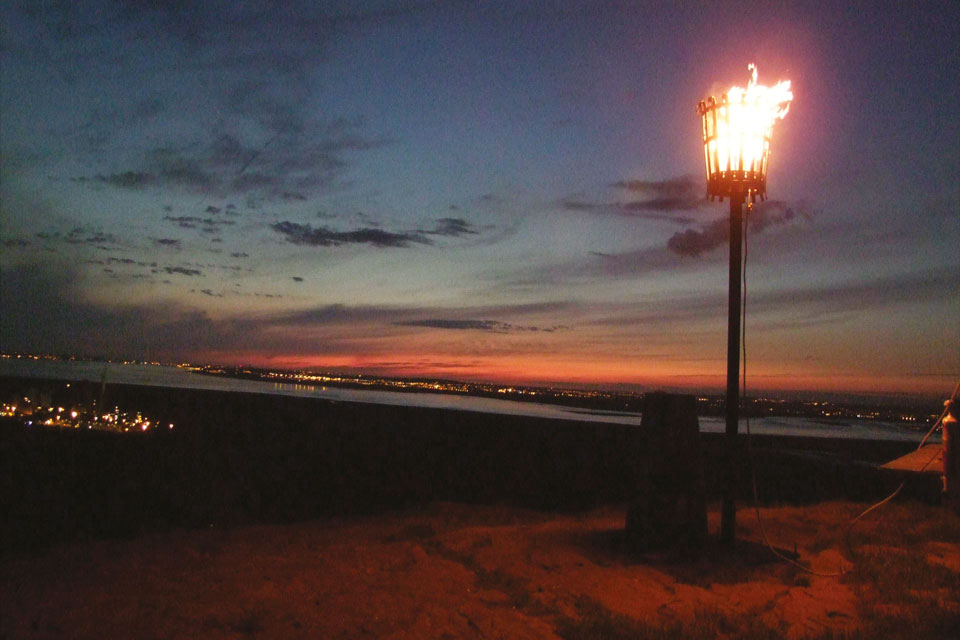 Helsby beacon for the Queen's Diamond Jubilee