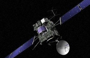 Artist impression of the Rosetta spacecraft.