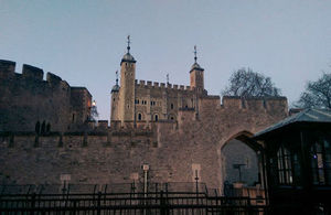 The Tower of London where the Women on Sports' Boards event was held