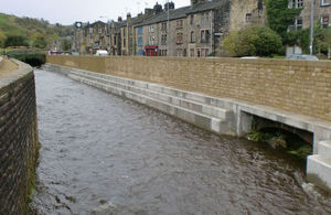 Todmorden flood alleviation scheme in Yorkshire