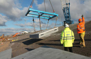 Work to replace the sea wall and promenade at Rossall and Anchorshome, Lancashire