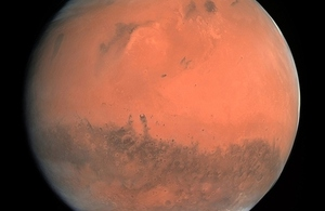 Mars depicted by the Rosetta spacecraft.