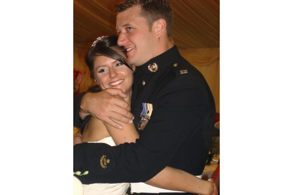 Corporal Birch and his wife Charlene on their wedding day (All rights reserved.)